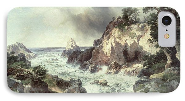 Point Lobos At Monterey In California IPhone Case by Thomas Moran