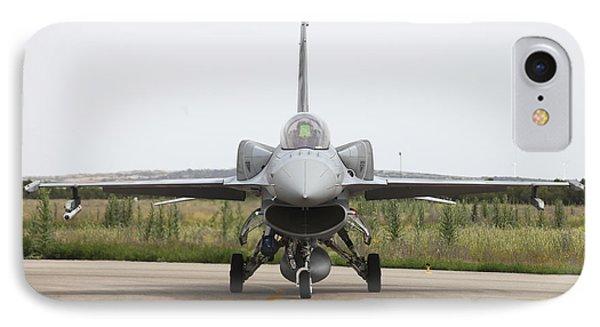 Polish F-16c Block 52 At Albacete Phone Case by Timm Ziegenthaler