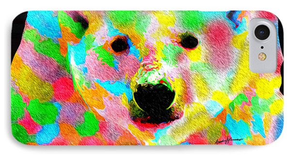 Polychromatic Polar Bear Phone Case by Anthony Caruso