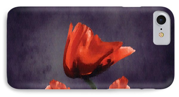 Poppies Fun 02b Phone Case by Variance Collections