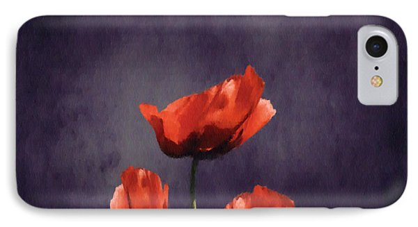 Poppies Fun 03b Phone Case by Variance Collections