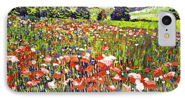 Poppy Fields In France IPhone Case by David Lloyd Glover