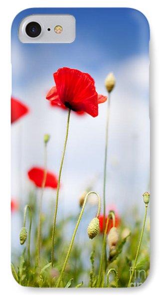 Poppy Flowers 06 IPhone Case by Nailia Schwarz