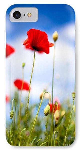 Poppy Flowers 12 IPhone Case by Nailia Schwarz