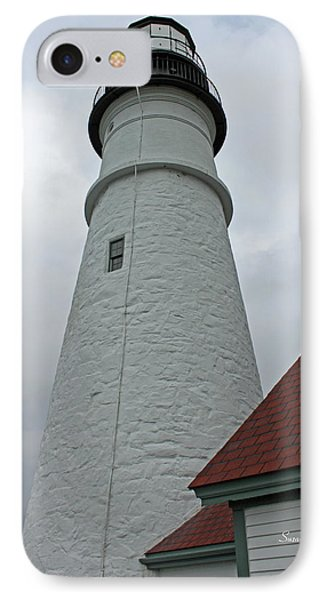 Portland Lighthouse Phone Case by Suzanne Gaff