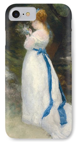 Portrait Of Lise   Phone Case by Pierre Auguste Renoir