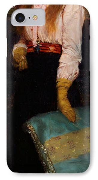 Portrait Of Miss Macwirter IPhone Case by Sir Lawrence Alma-Tadema
