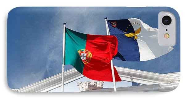 Portugal And Azores Flags Phone Case by Gaspar Avila