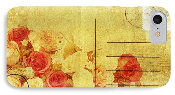 Postcard With Floral Pattern Phone Case by Setsiri Silapasuwanchai