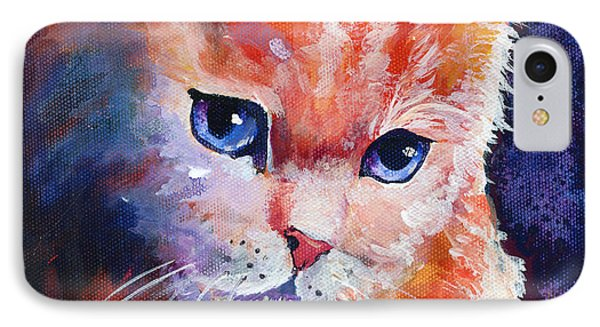 Pouting Kitty Phone Case by Sherry Shipley