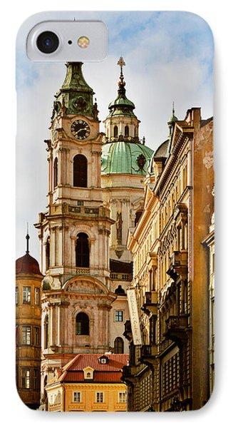 Prague - St. Nicholas Church Lesser Town Phone Case by Christine Till