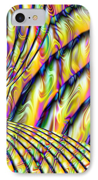 Psychedelic Fractal  IPhone Case by Gina Lee Manley