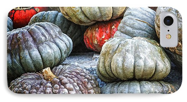 Pumpkin Pile II Phone Case by Joan Carroll