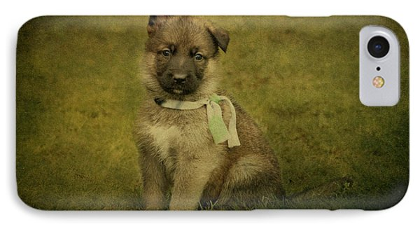 Puppy Sitting Phone Case by Sandy Keeton