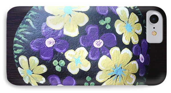 Purple And Yellow Flowers Phone Case by Monika Shepherdson