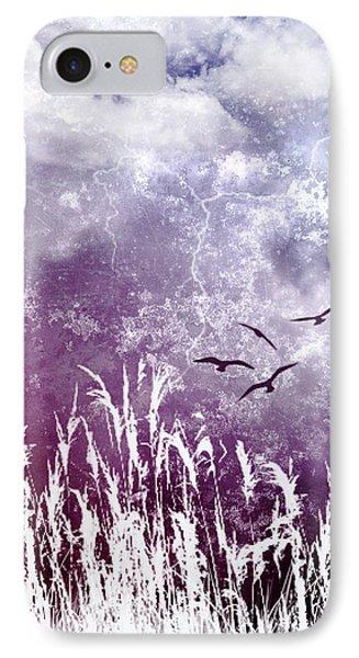 Purple Skies Phone Case by Ellen Heaverlo