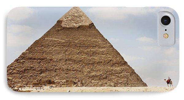 Pyramid Of Khafre Chephren, Giza, Al Phone Case by Peter Langer
