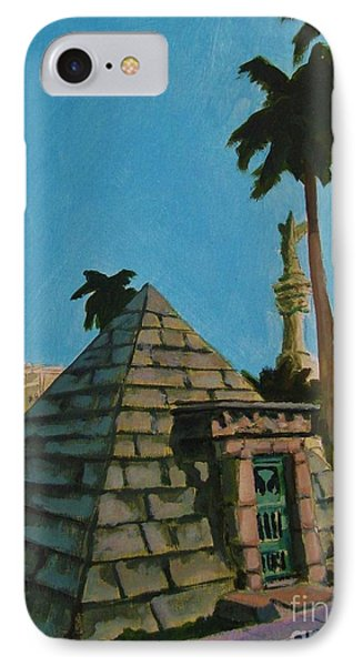 Pyramid Tomb In Cemetary IPhone Case by John Malone