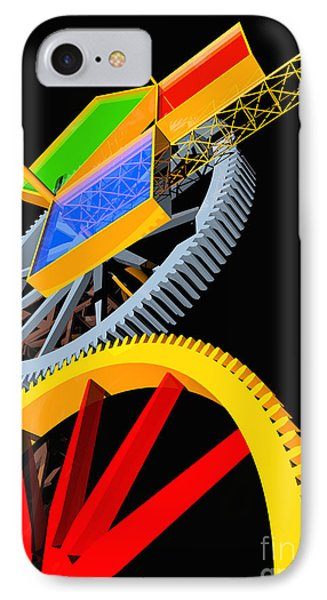 Pythagorean Machine Portrait 5 Phone Case by Russell Kightley
