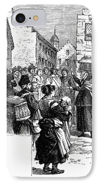 Quaker Preaching, 1657 Phone Case by Granger
