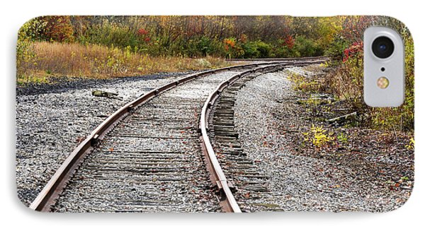 Railroad Fall Color Phone Case by Thomas R Fletcher