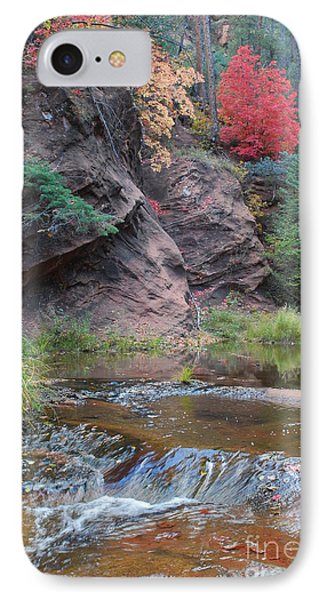 Rainbow Of The Season And River Over Rocks Phone Case by Heather Kirk