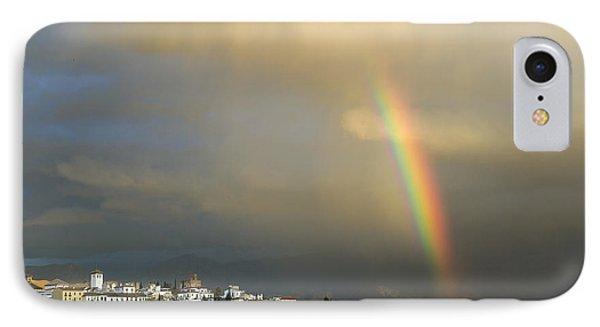 Rainbow Over Granada Yesterday Phone Case by Guido Montanes Castillo