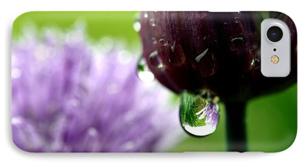 Raindrops On Chives In Bloom Phone Case by Thomas R Fletcher