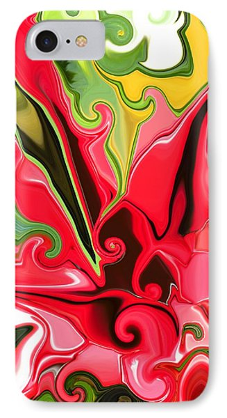 Red Fantasy Lily IPhone Case by Renate Nadi Wesley