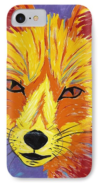Red Fox IPhone Case by Peggy Quinn