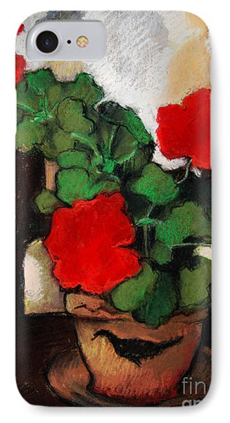 Red Geranium Phone Case by Mona Edulesco