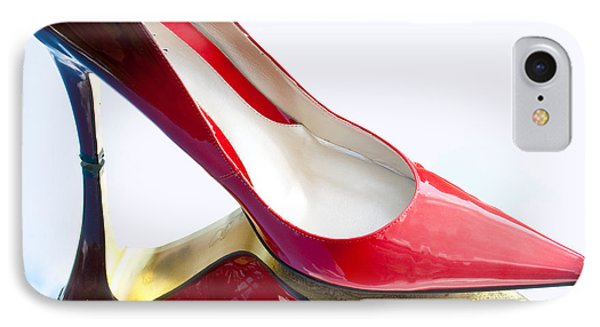 Red Patent Stilettos IPhone Case by Paulette B Wright