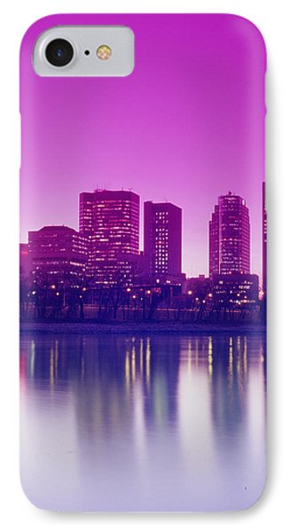 Red River And Downtown Winnipeg Phone Case by Dave Reede