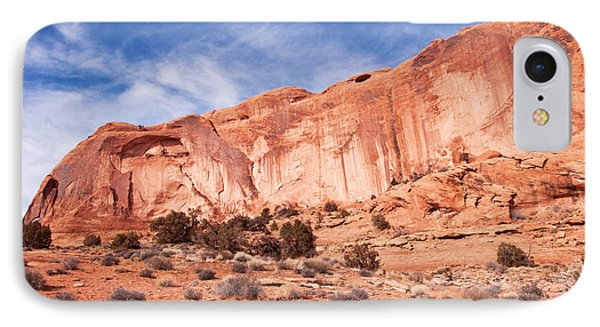 Red Rock And Blue Skies Phone Case by Bob and Nancy Kendrick