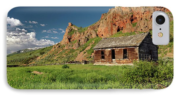 Red Rock Cabin Phone Case by Leland D Howard