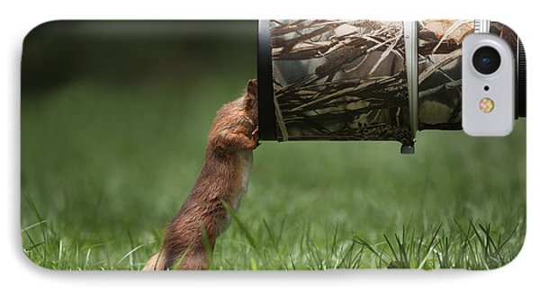 Red Squirrel Inspecting A Camera Lens. Phone Case by Andy Astbury