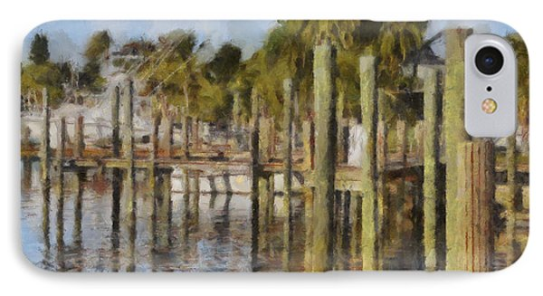 Reflections At Fort Pierce IPhone Case by Trish Tritz