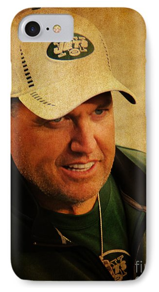 Rex Ryan - New York Jets IPhone Case by Lee Dos Santos