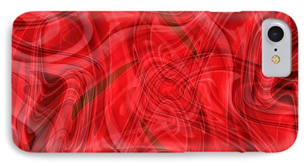 Ribbons Of Red Abstract Phone Case by Carol Groenen
