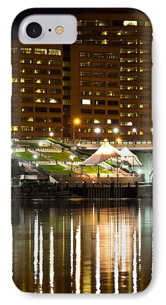 River Front At Night Phone Case by Frank Pietlock