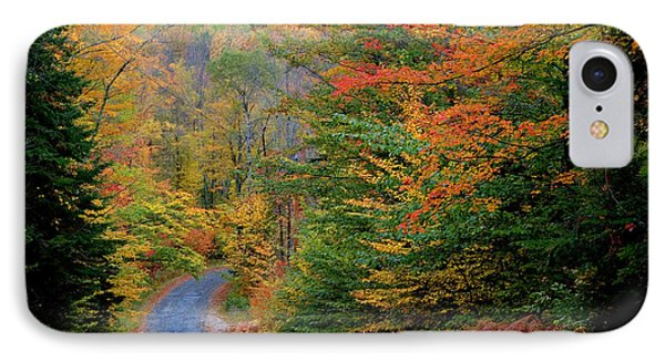 Road Through Autumn Woods Phone Case by Larry Landolfi and Photo Researchers