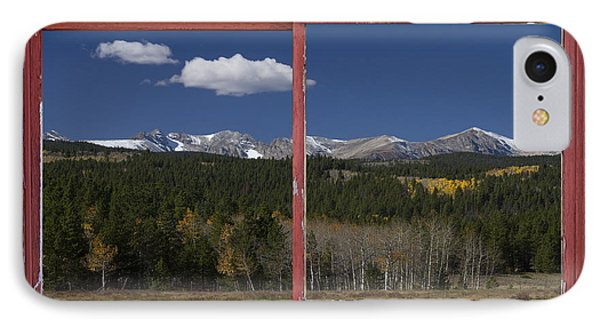 Rocky Mountain Autumn Red Rustic Picture Window Frame Photos Art Phone Case by James BO  Insogna