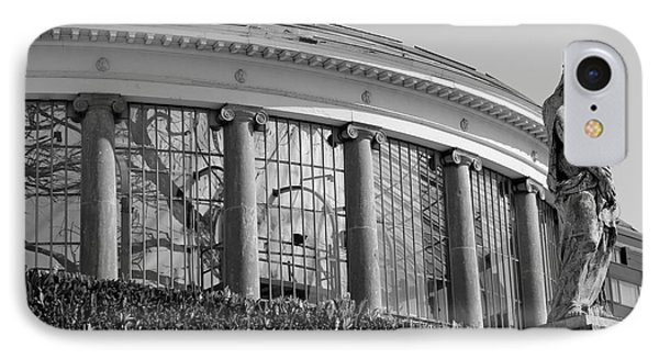 Royal Conservatory In Brussels - Black And White Phone Case by Carol Groenen