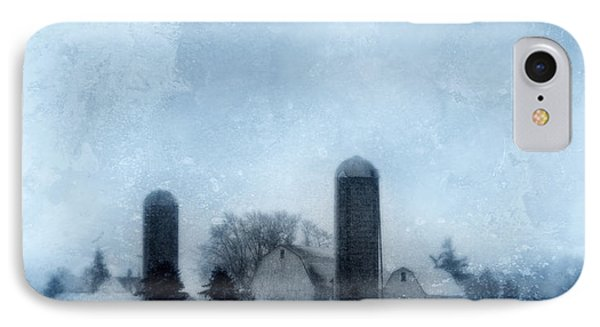 Rural Farm In Winter IPhone Case by Jill Battaglia