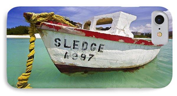 Rustic Fishing Boat Of Aruba II Phone Case by David Letts