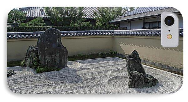 Ryogen-in Raked Gravel Garden - Kyoto Japan Phone Case by Daniel Hagerman
