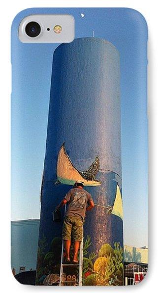 Sailfish Splash Park Mural 11 Phone Case by Carey Chen
