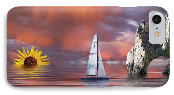 Sailing At Sunset Phone Case by Shane Bechler