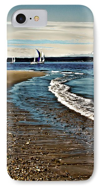 Sailing The Puget Sound Phone Case by David Patterson
