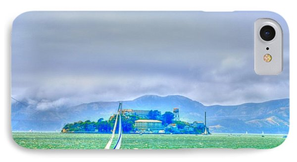 Sailing To Alcatraz IPhone Case by Alberta Brown Buller